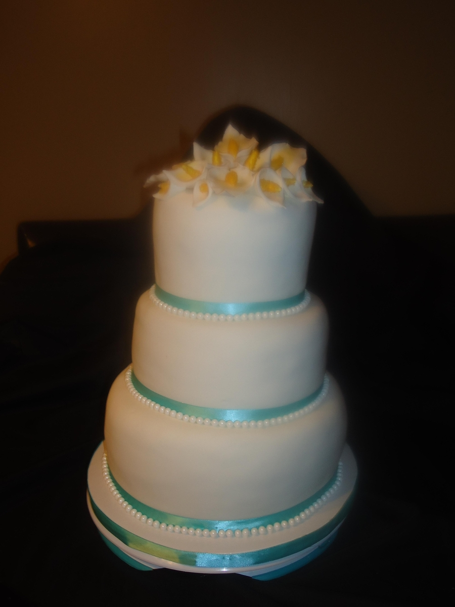 3 Tier Wedding Anniversary Cake on Cake Central