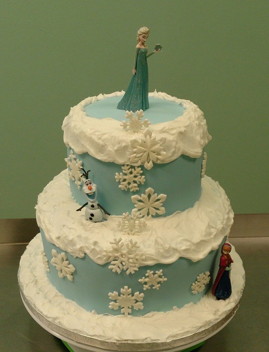 Easy Frozen Themed Cake Ideas
