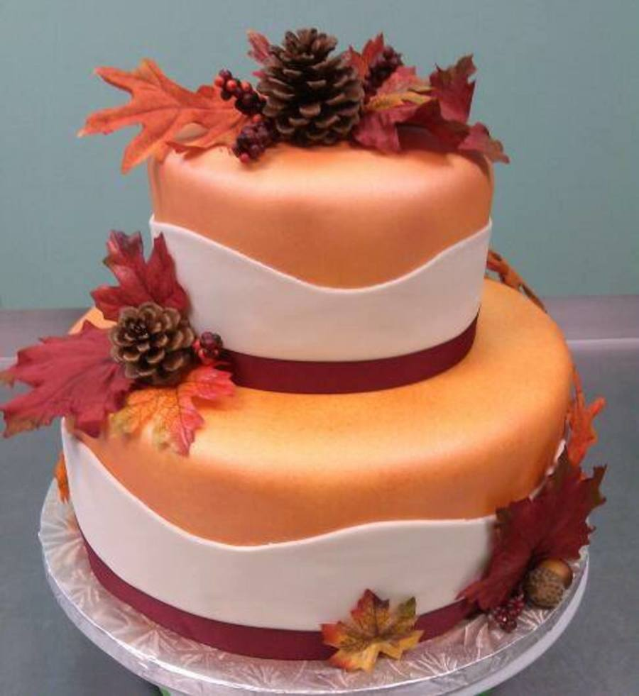 Fall In Love Was The Theme For This Bridal Shower Cake ...