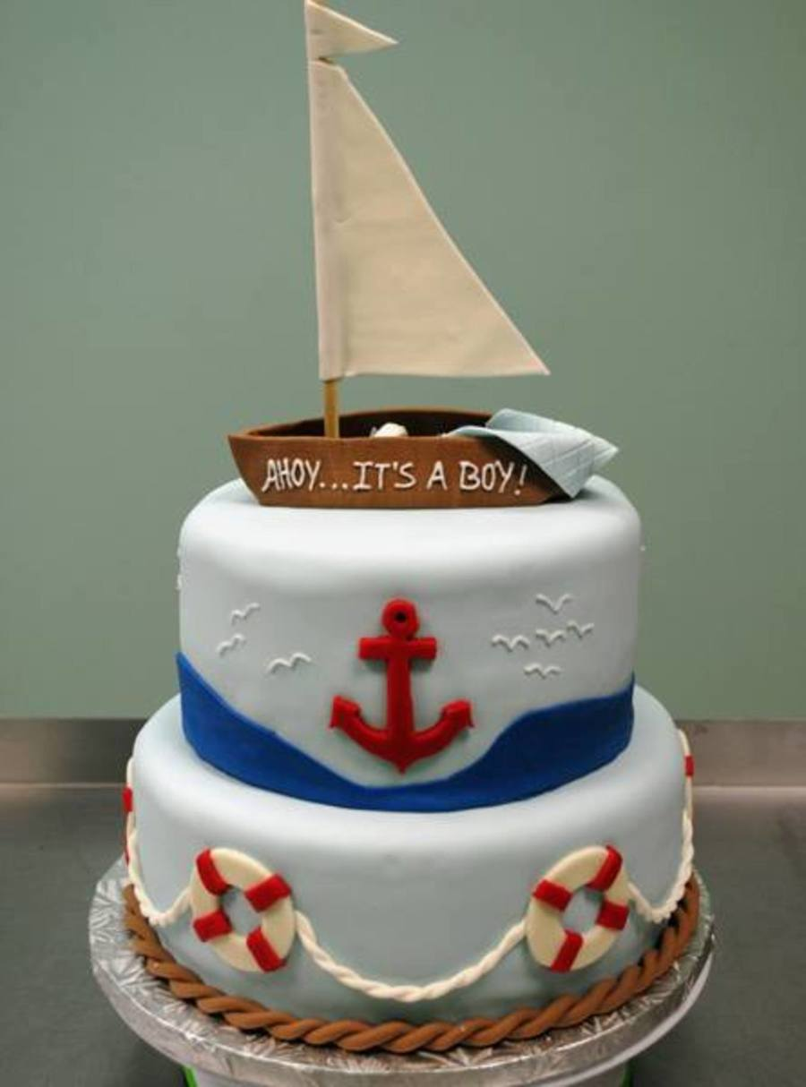 Nautical Baby Shower With A Sleeping Baby Hidden In The