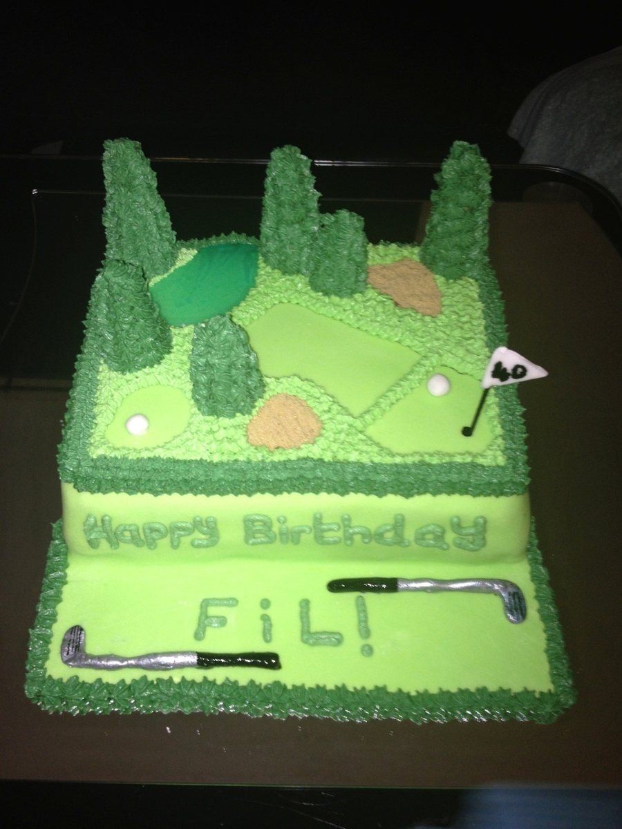 Golf :) on Cake Central