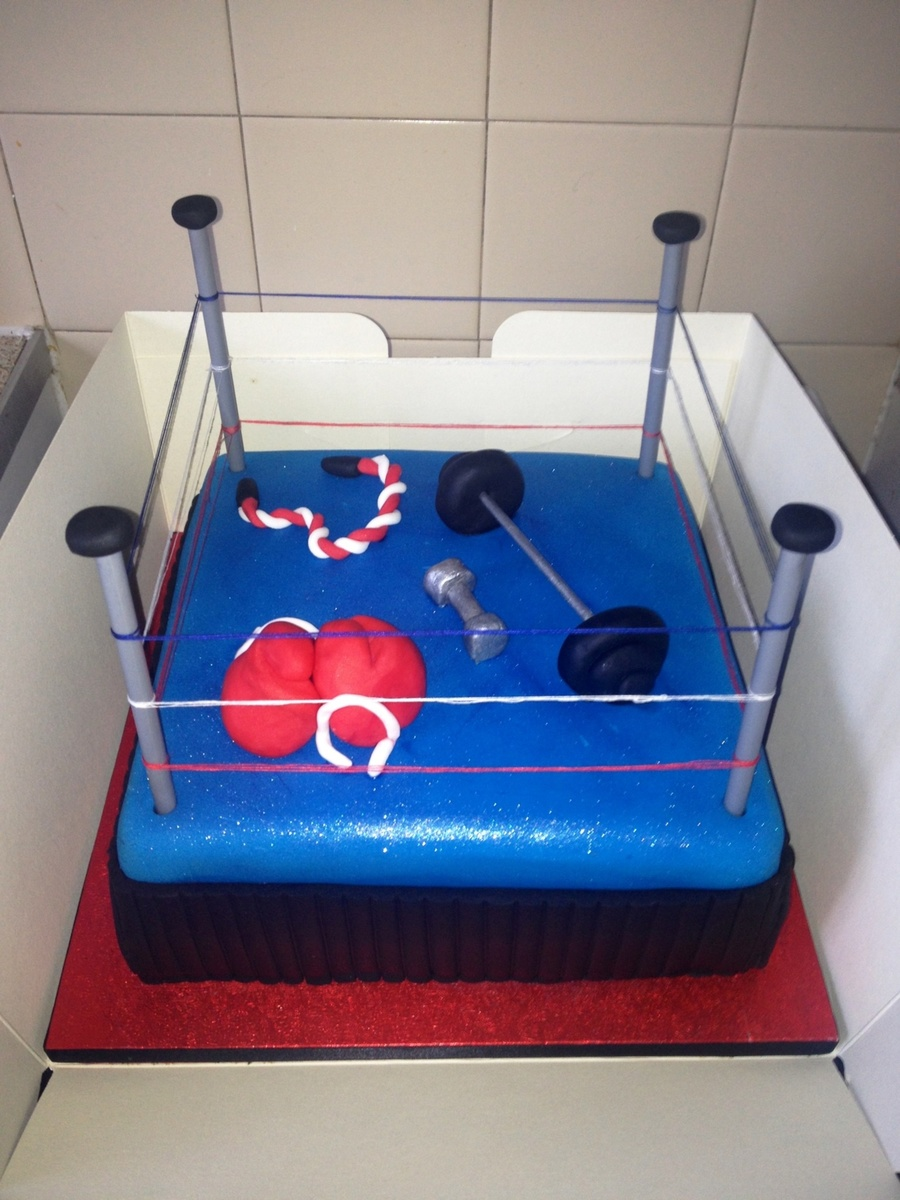 Boxing Ring :) on Cake Central