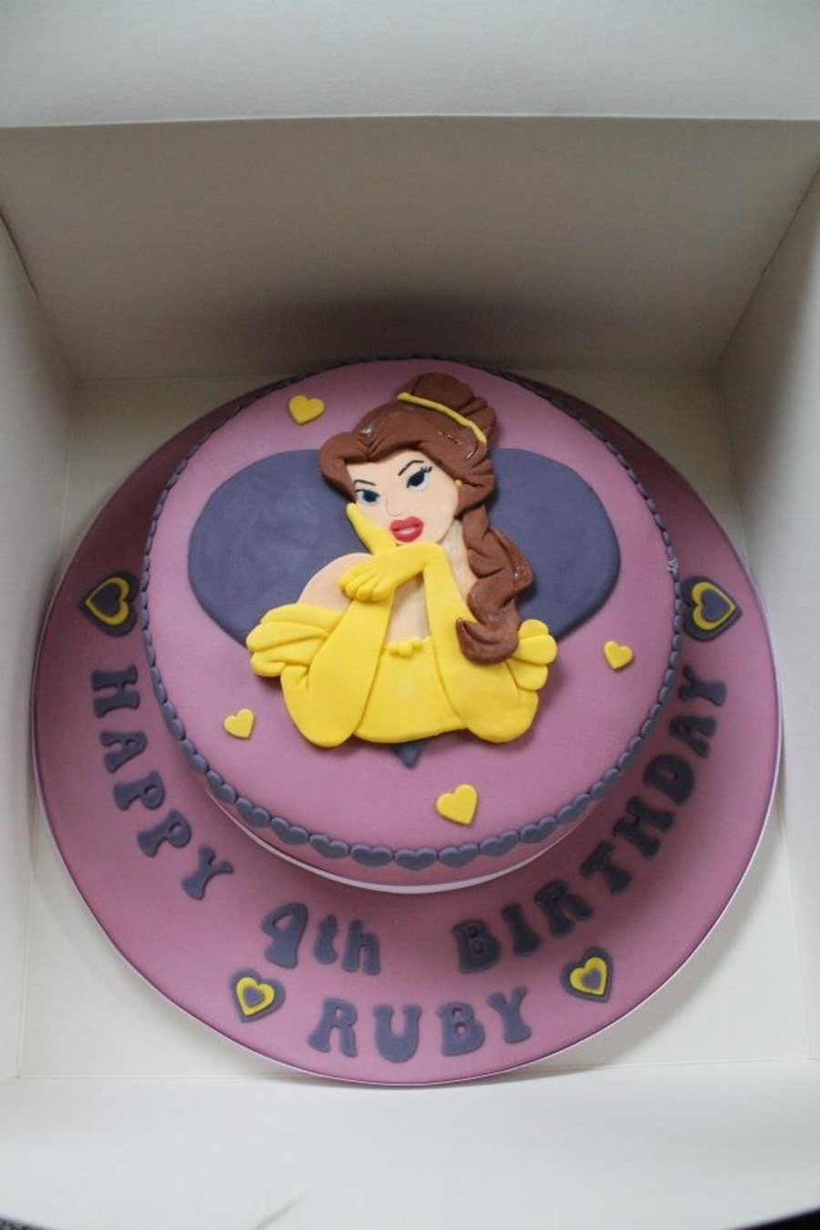 Disneys Belle Birthday Cake Cakecentral