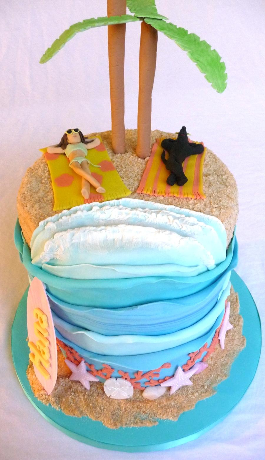 Cake Decorations Beach Theme : Beach Theme Cake - CakeCentral.com