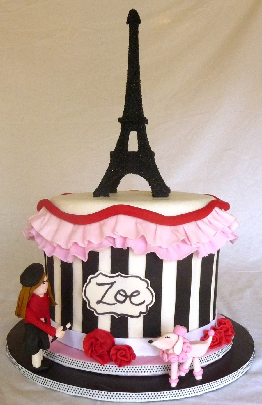 Cake Name Art : Paris-Themed Cake - CakeCentral.com