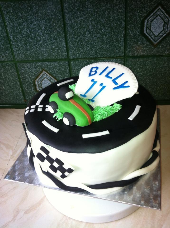 Go Karting Birthday Cake For 11 Year Old Boy