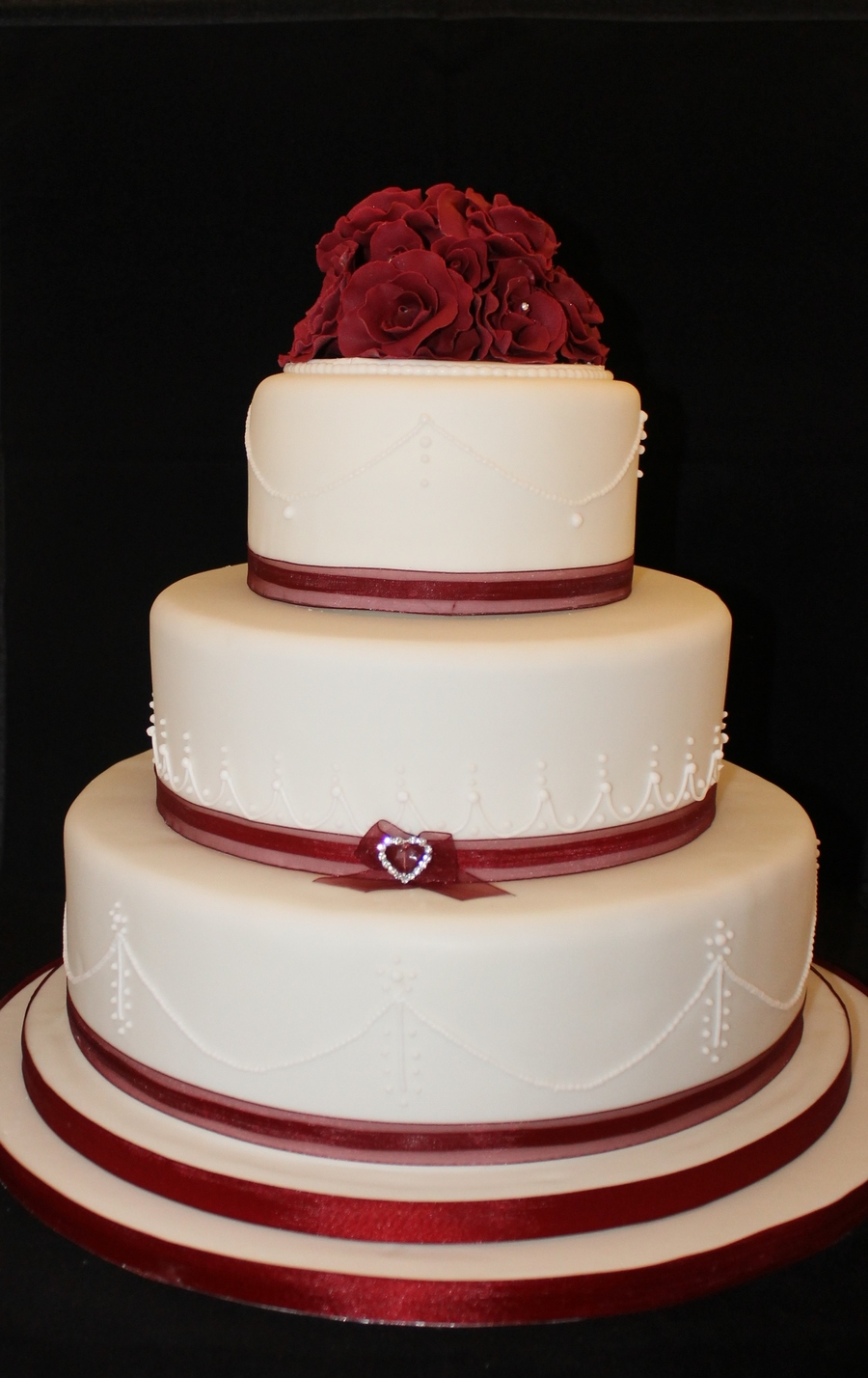 Valentines Day 3 Tier Wedding Cake CakeCentralcom