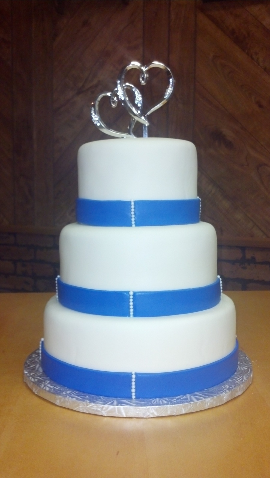 Simple Amp Elegant Wedding Cake By Pamcakes on Cake Central