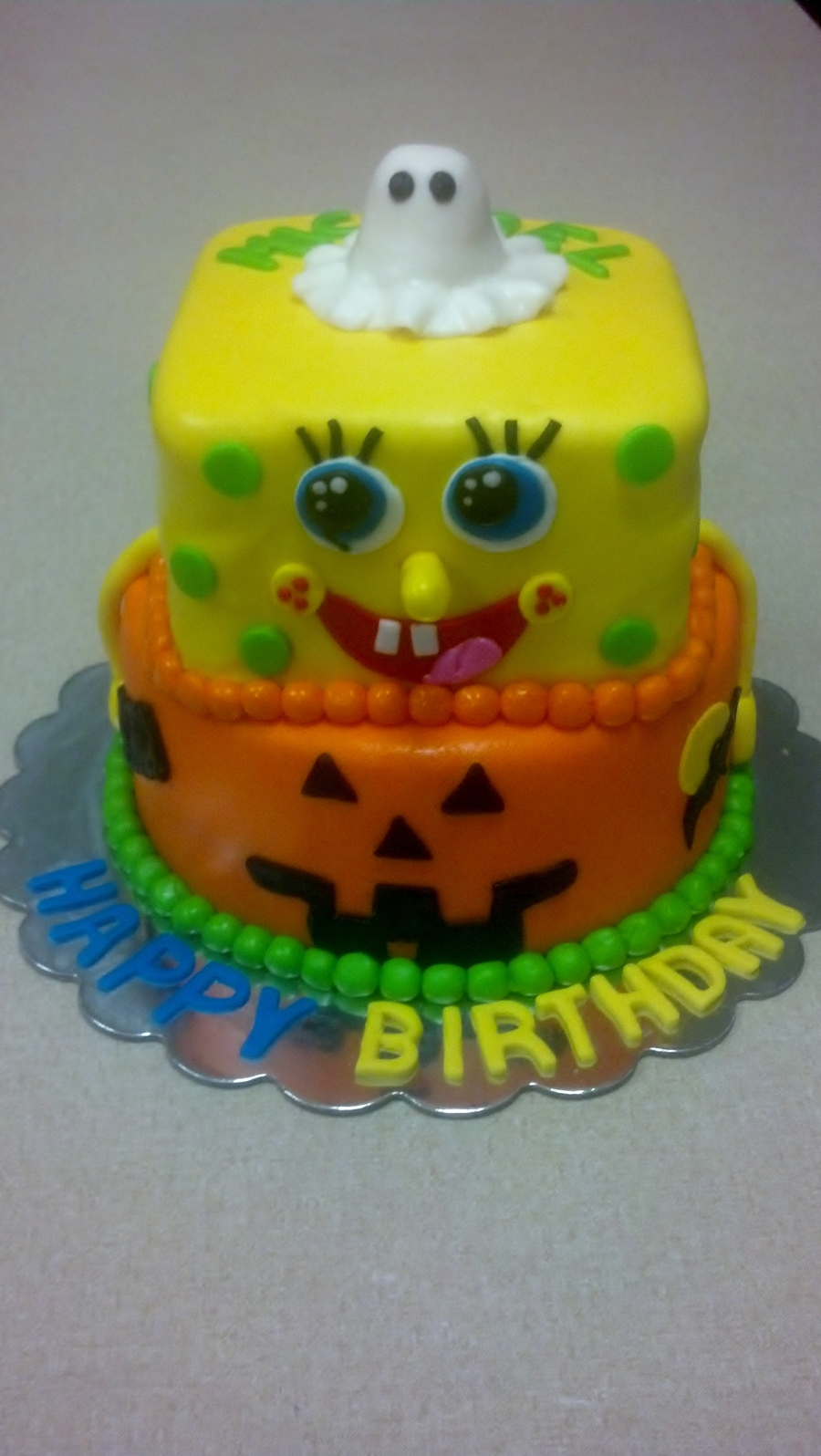 Spongebob Sitting In A Pumpkin on Cake Central