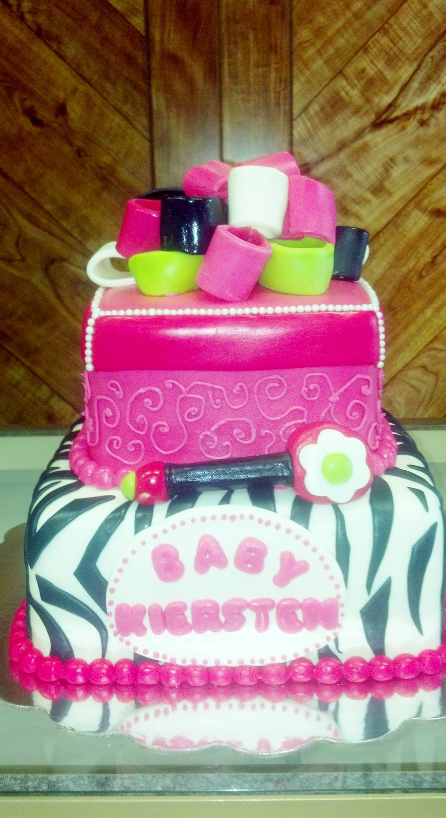 Baby Shower Cake By Pamcakes on Cake Central