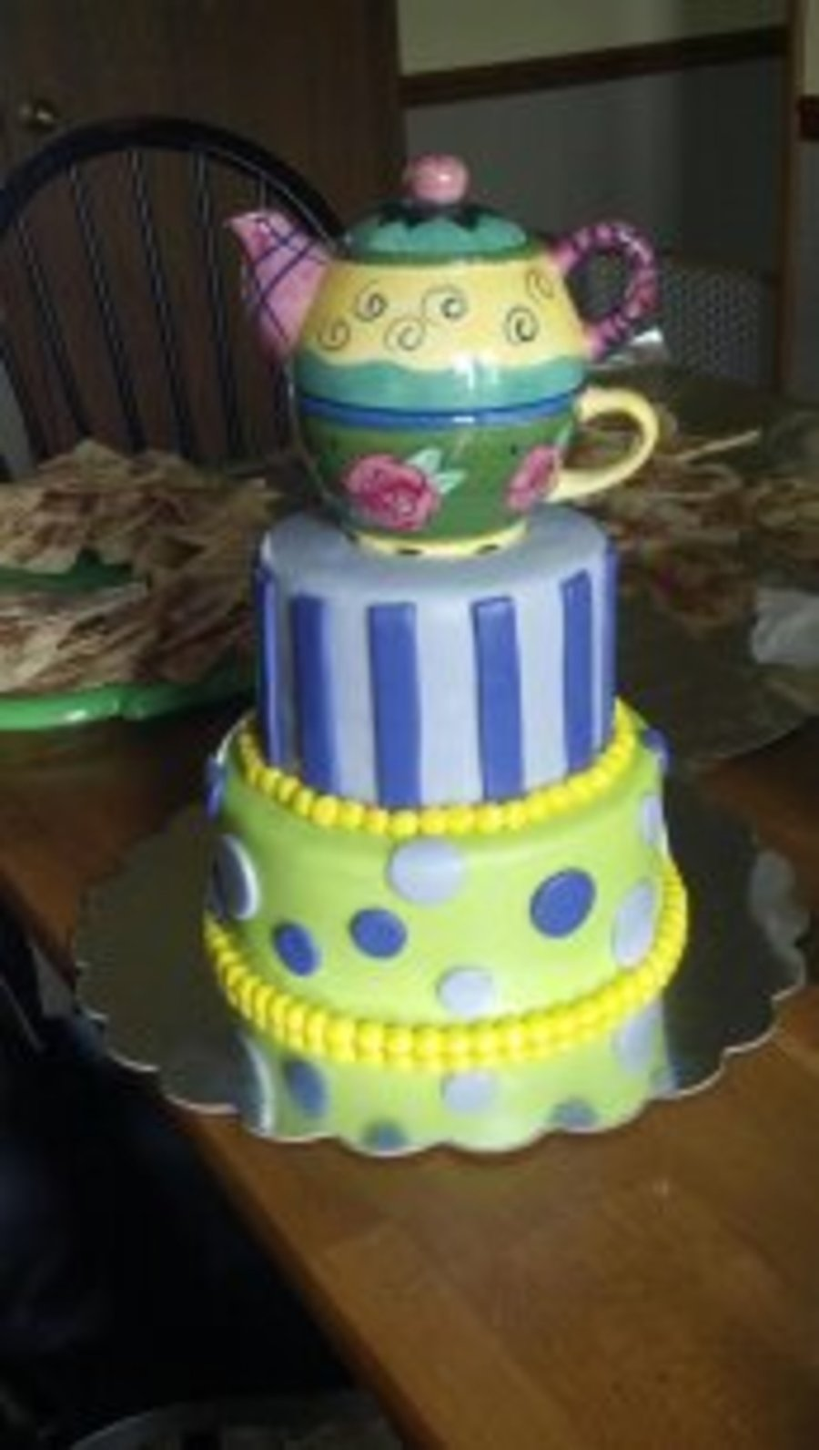 Teapot Theme Bridal Shower Cake By Pamcakes on Cake Central