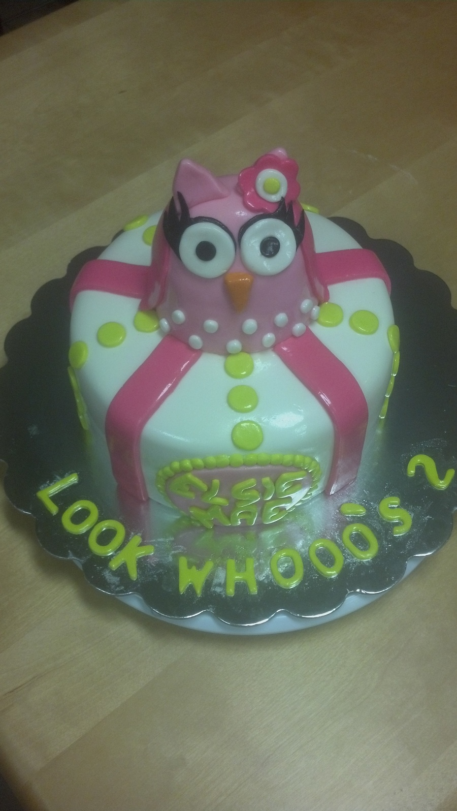 Owl Look Whooos 2 Birthday Cake on Cake Central