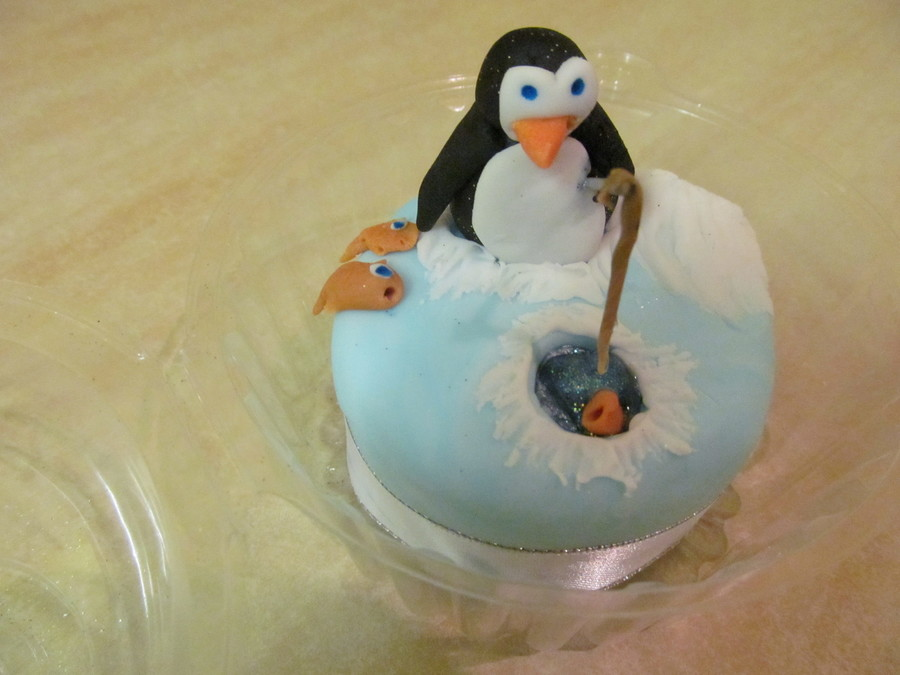 Fishing Penguin Mini Cake on Cake Central
