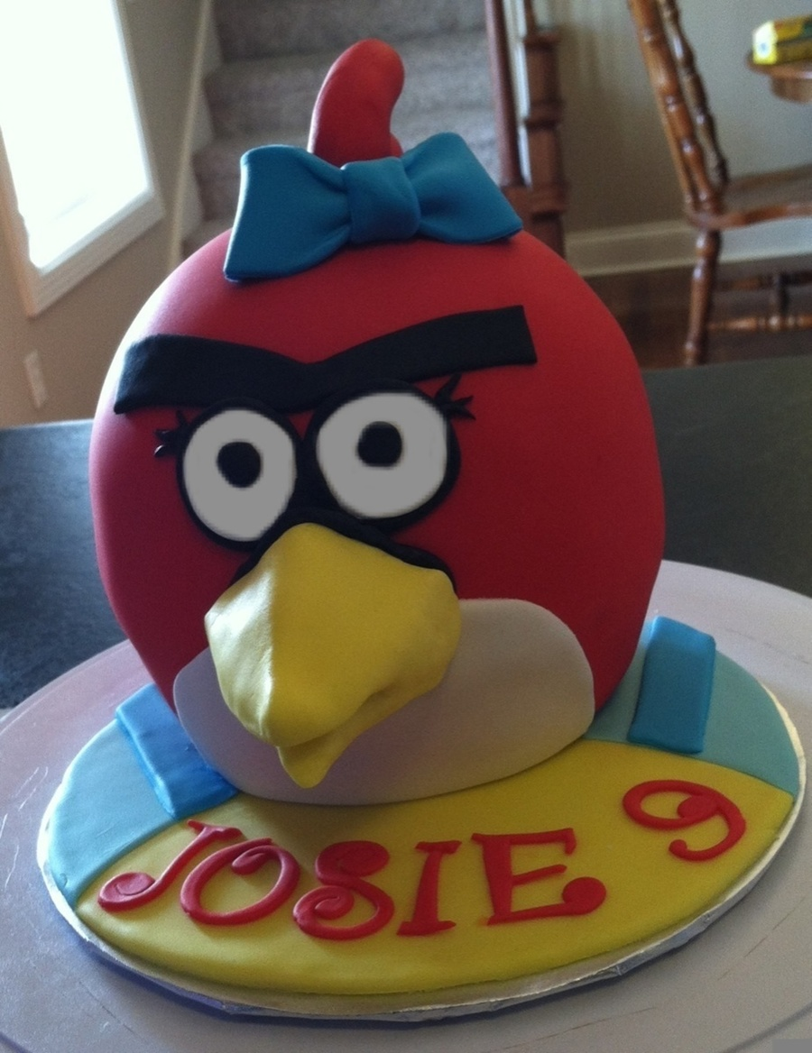 Girly Angry Bird on Cake Central