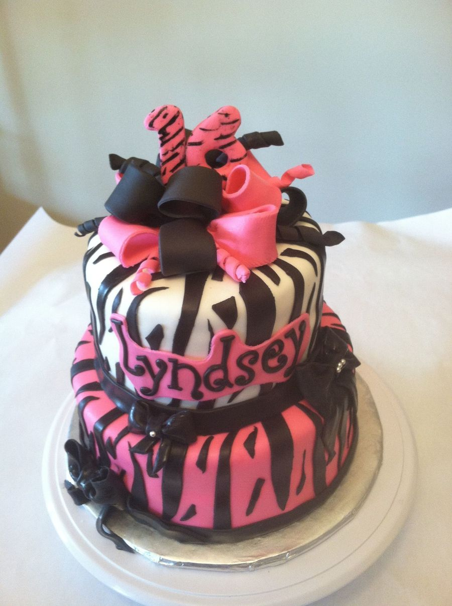 Zebras And Bows on Cake Central