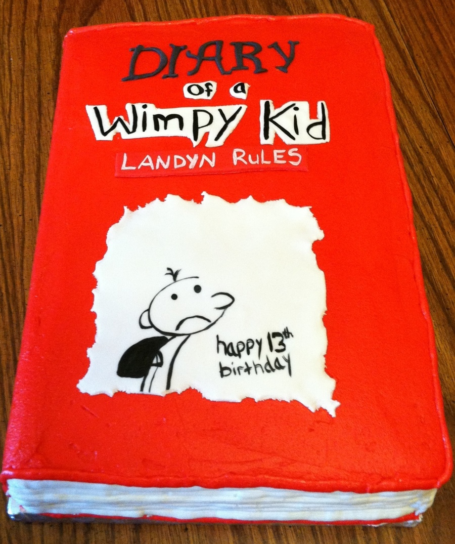 Diary Of A Wimpy Kid Book on Cake Central
