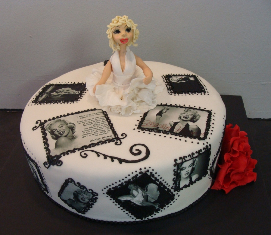 Incredible Marilyn Monroe Cake Cakecentral Com Personalised Birthday Cards Paralily Jamesorg