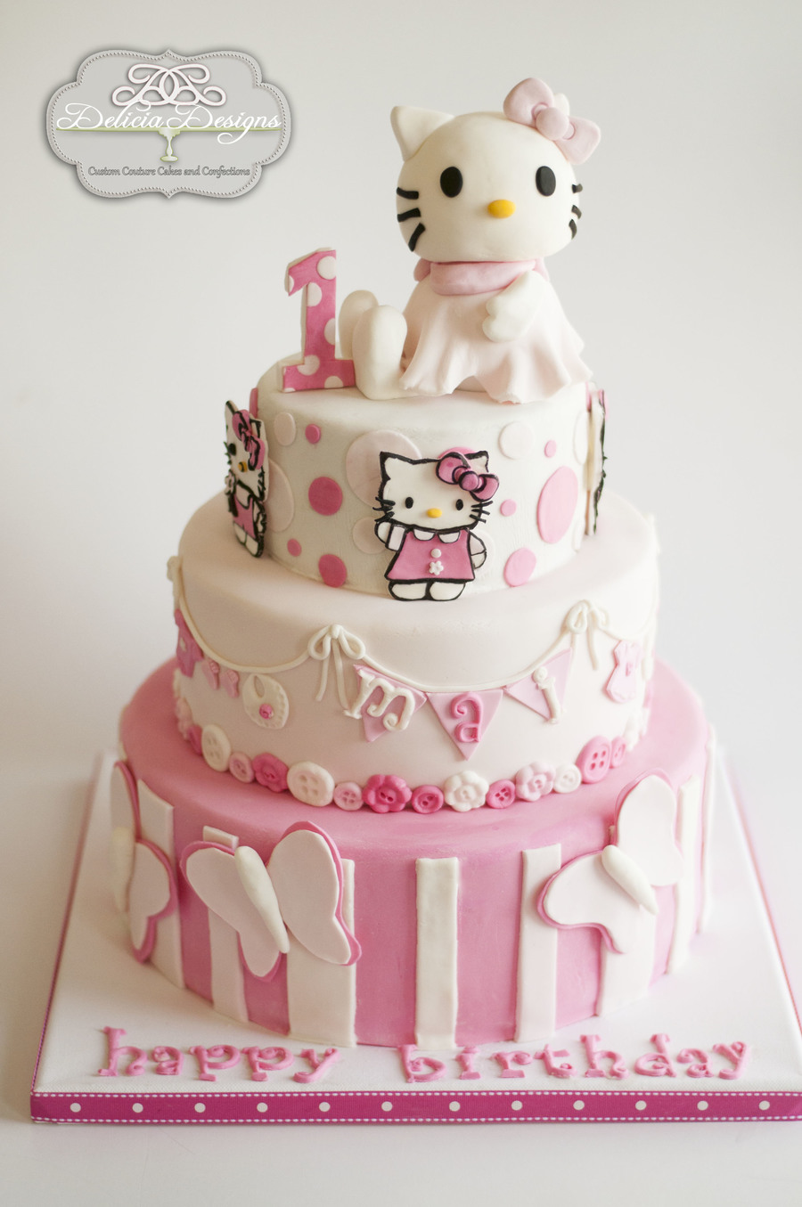 Hello Kitty 1st Birthday Cakecentral Com