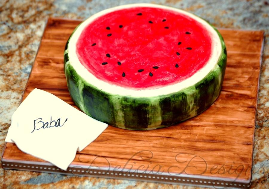 Watermelon Cake - CakeCentral.com