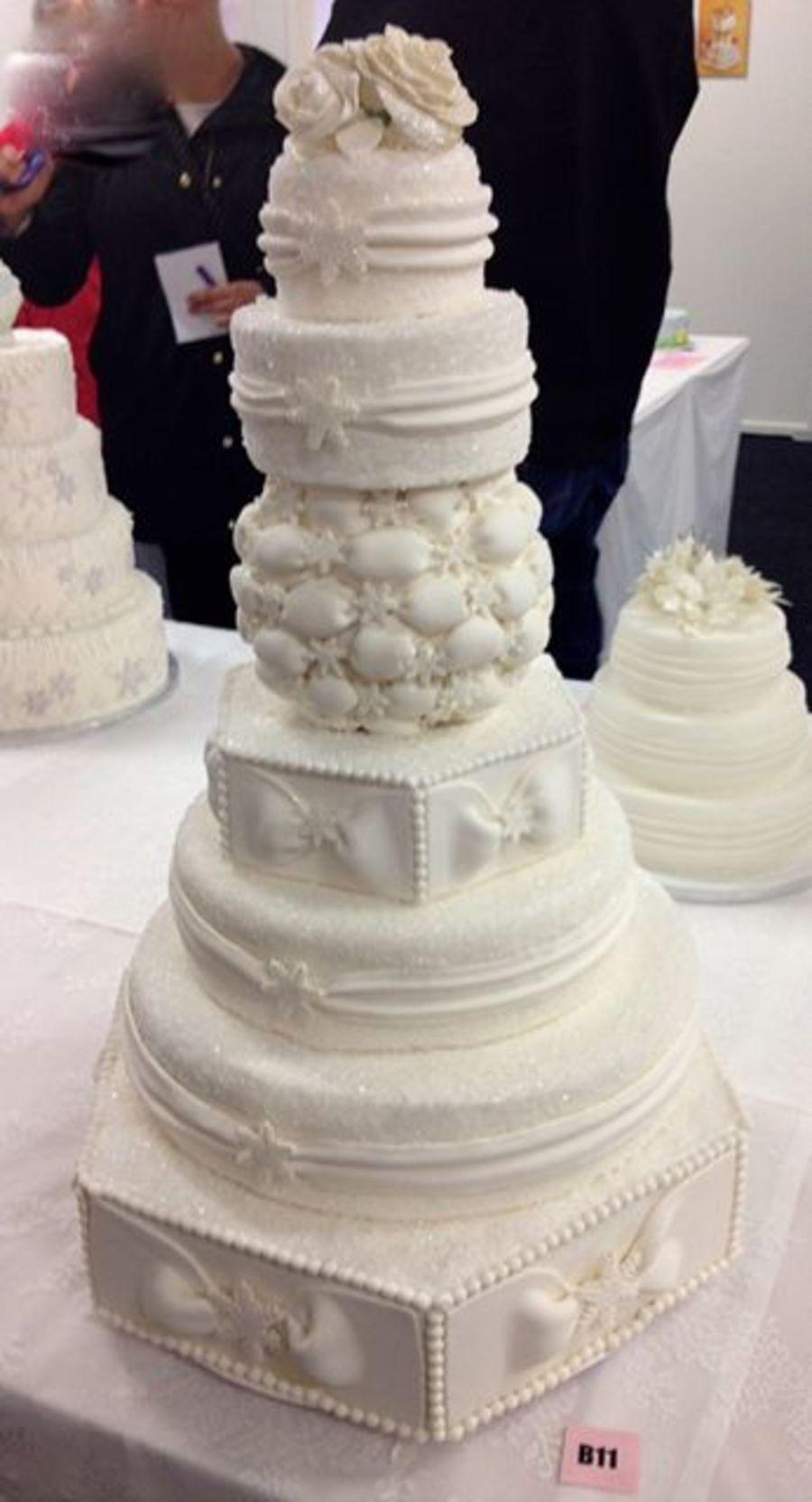 Winter Themed Wedding Cake - CakeCentral.com