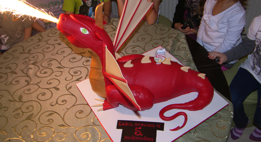 Red Dragon Cake on Cake Central
