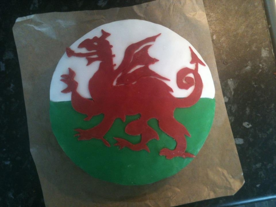 Welsh Flag on Cake Central