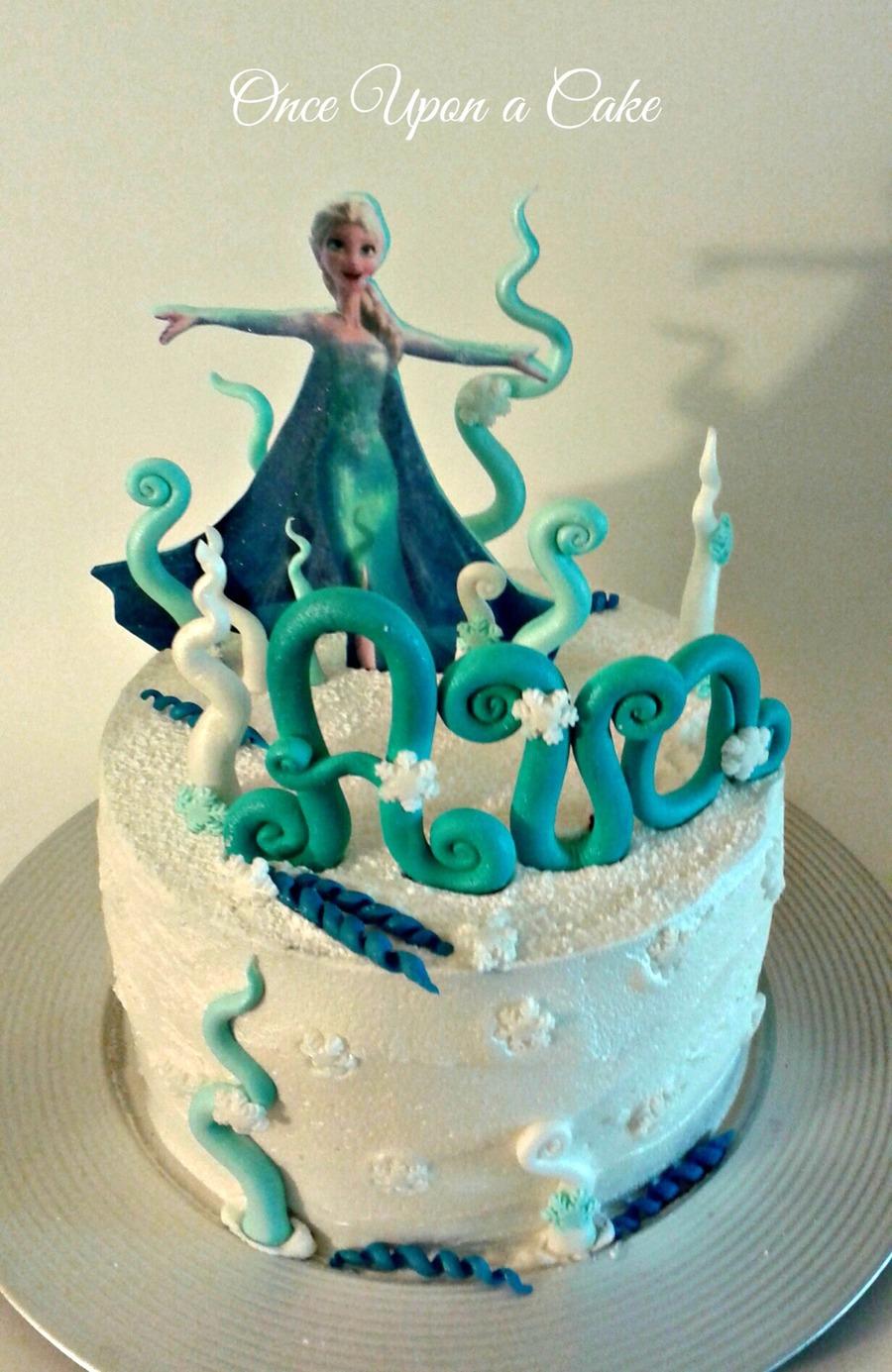 Frozen Elsa Cake For My Daughter S 4th Birthda