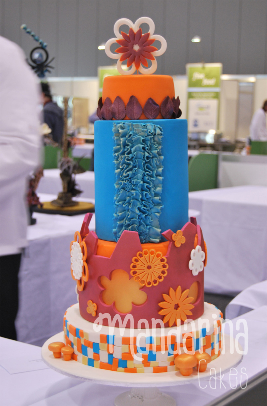 Orange And Teal on Cake Central