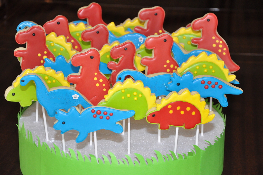 Dinosaur Party Cookies on Cake Central