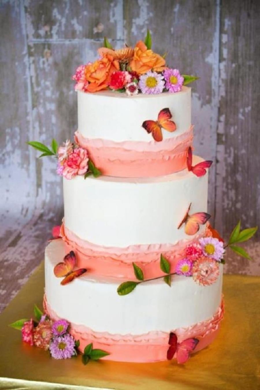 Whimsical Butterfly Wedding Cake on Cake Central