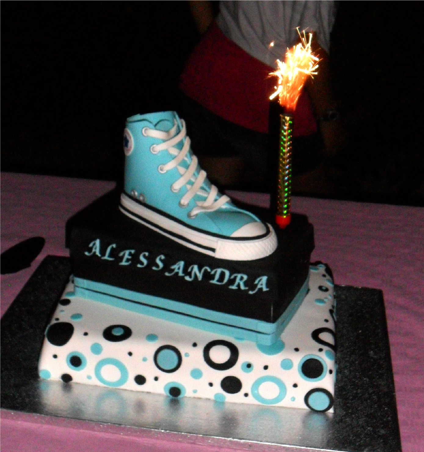 Outstanding All Star Converse Cake Cakecentral Com Funny Birthday Cards Online Bapapcheapnameinfo