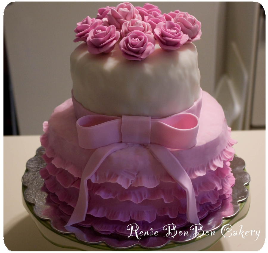 Flowers & Frills  on Cake Central