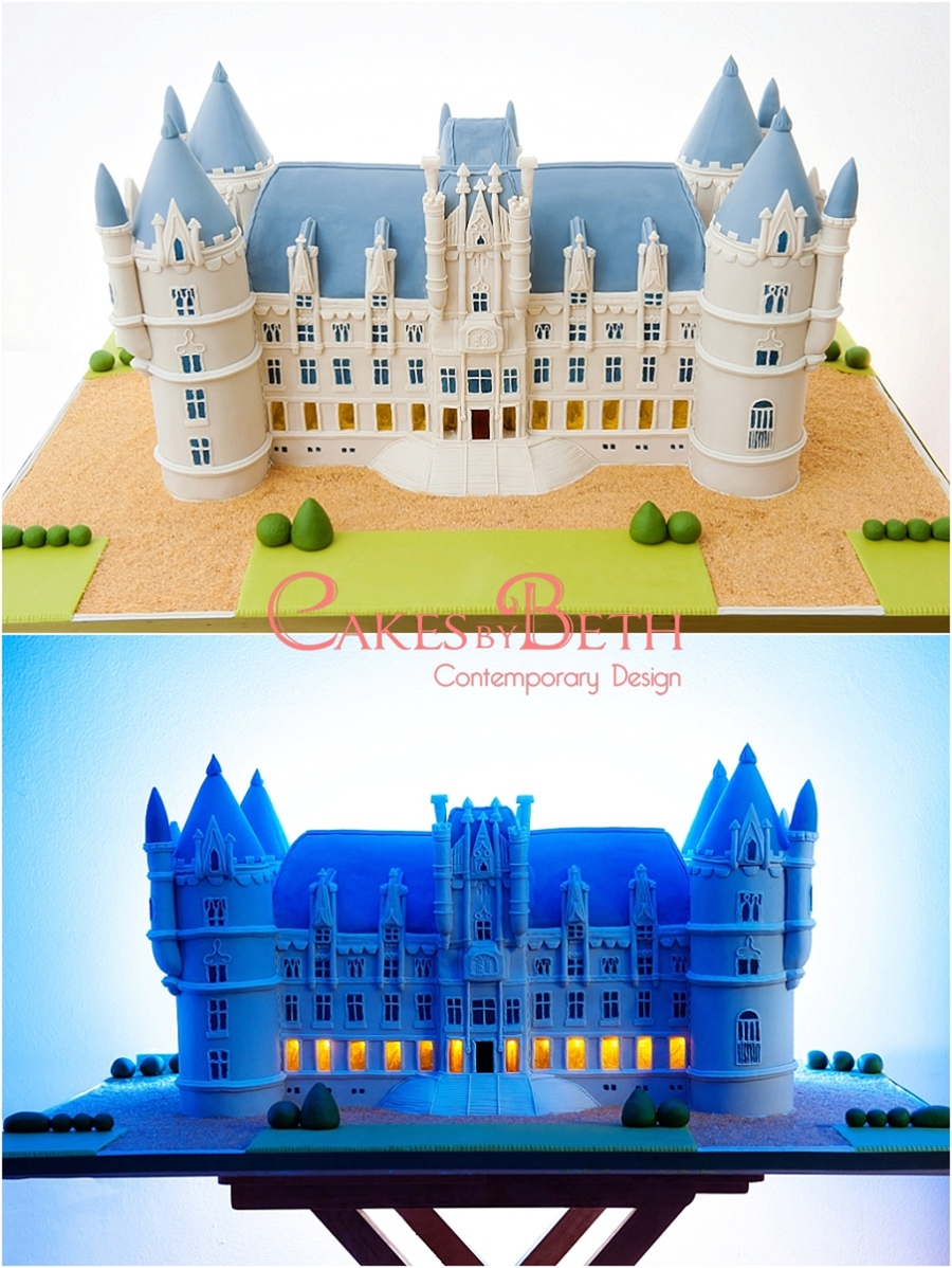 Chateau Challain Wedding Cake on Cake Central