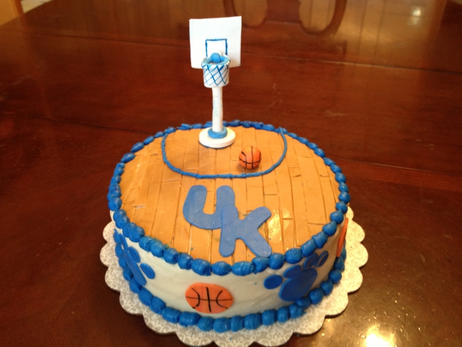 Uk Wildcats Basketball Cake on Cake Central