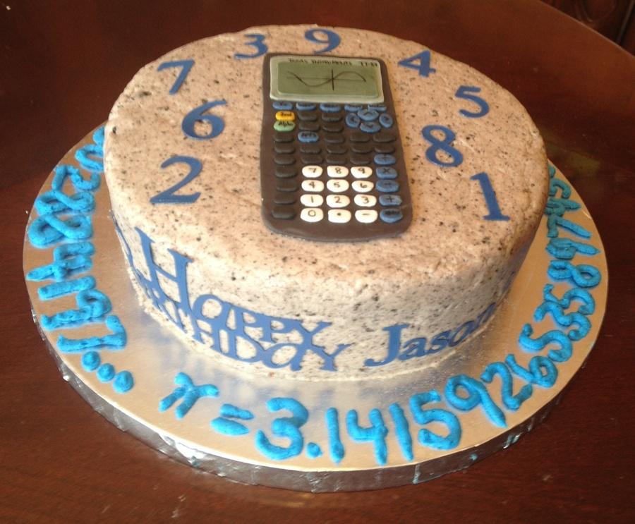 Math Themed Birthday Cake Cakecentral Com