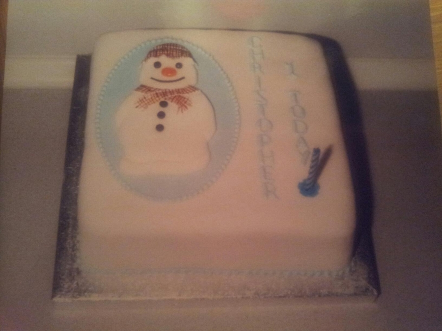 The Snowman on Cake Central
