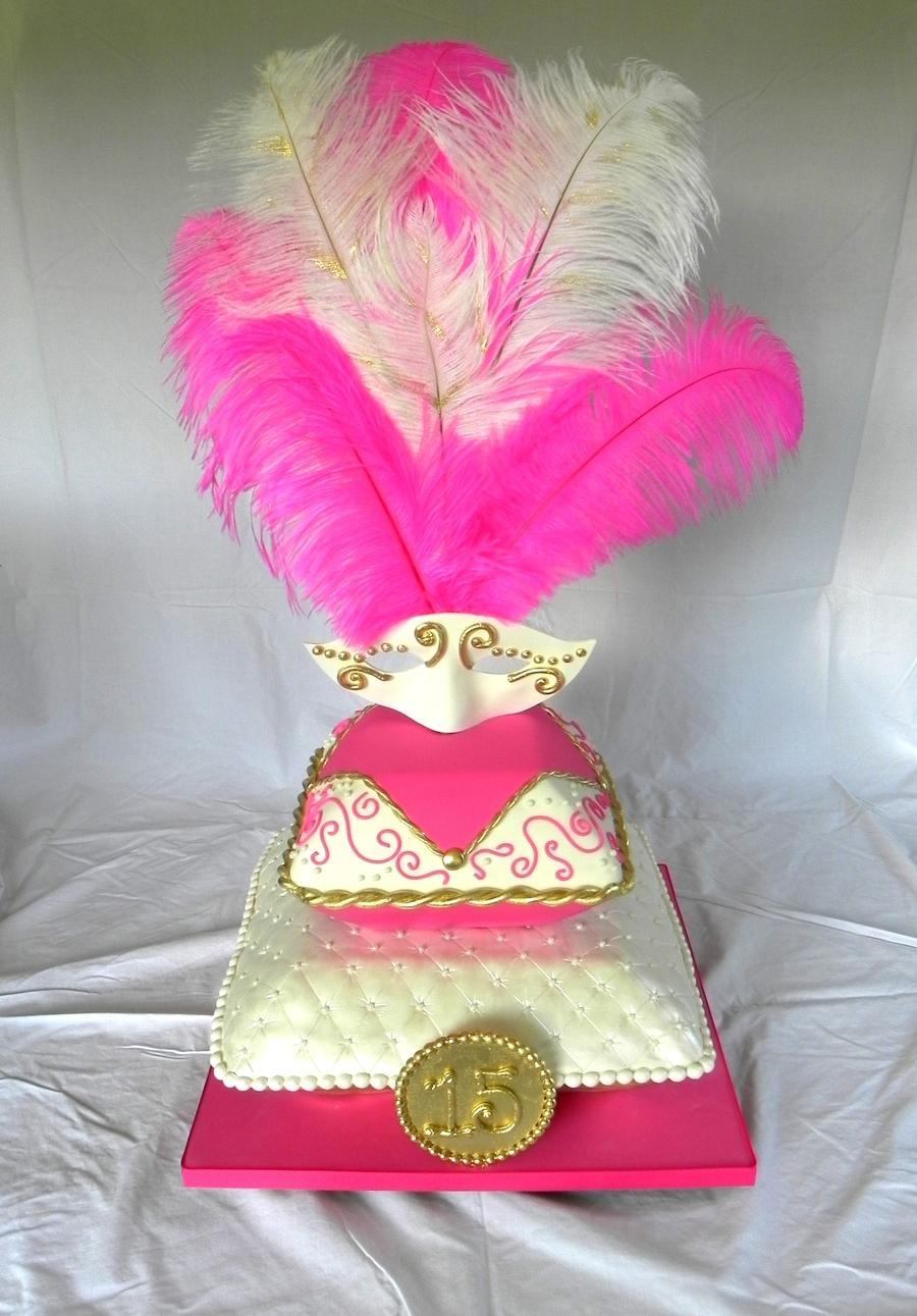 Masquerade Quinceanera Cake Cakecentral Com