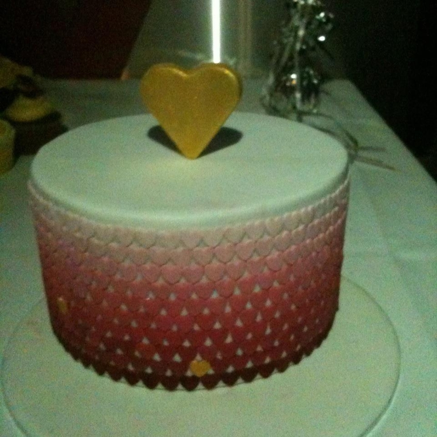 Ombre Hearts on Cake Central