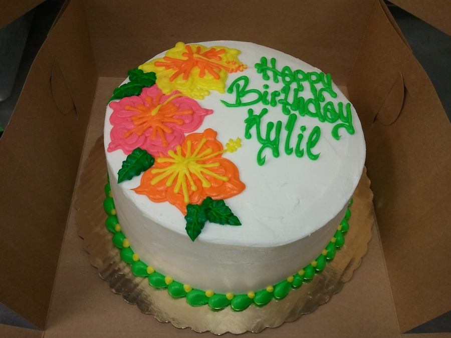 Tropical Flowers on Cake Central
