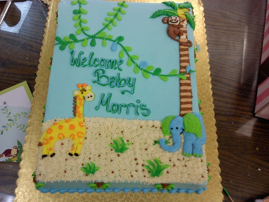 Another Jungle Theme  on Cake Central