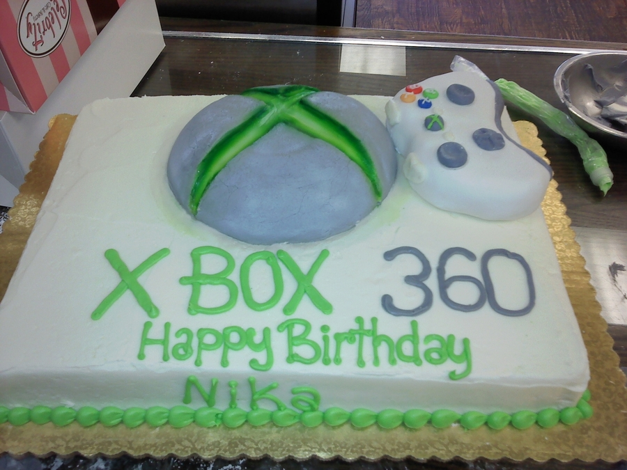 X Box Cake on Cake Central