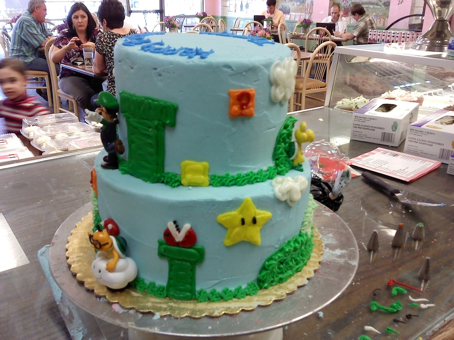 Mario Cake; on Cake Central