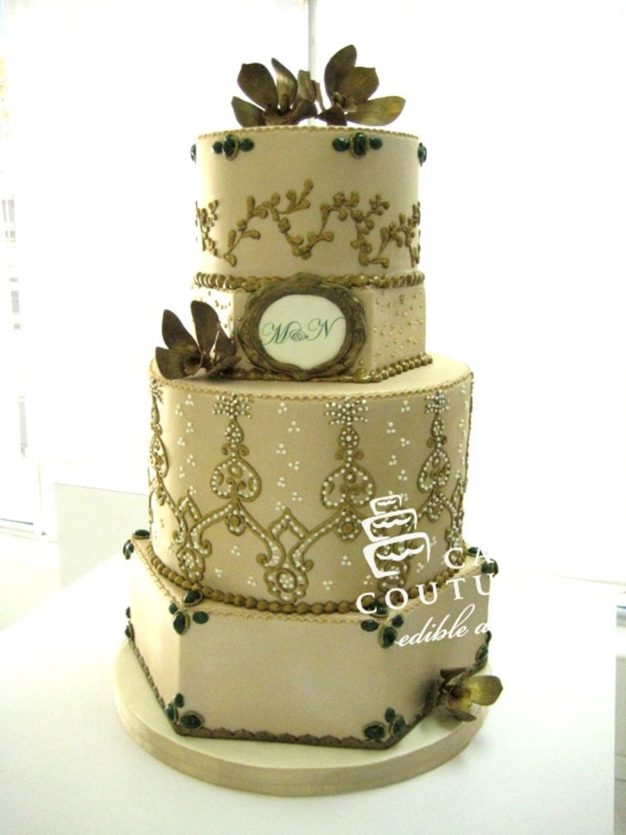 Couture Wedding Cake on Cake Central