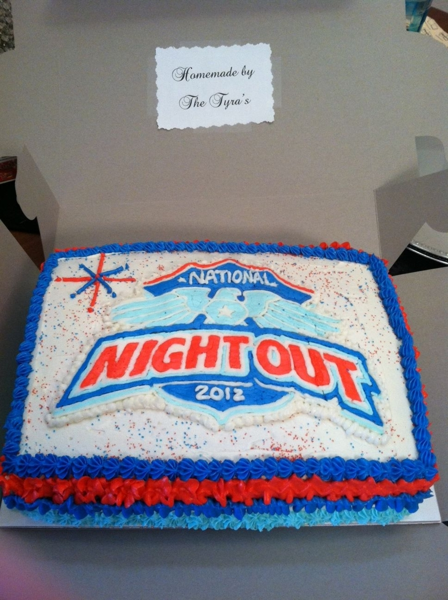 National Night Out Cake 2012 on Cake Central