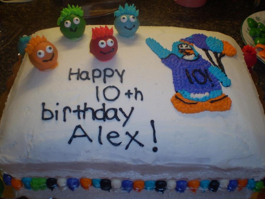 Club Penguin Birthday Cake Cakecentral