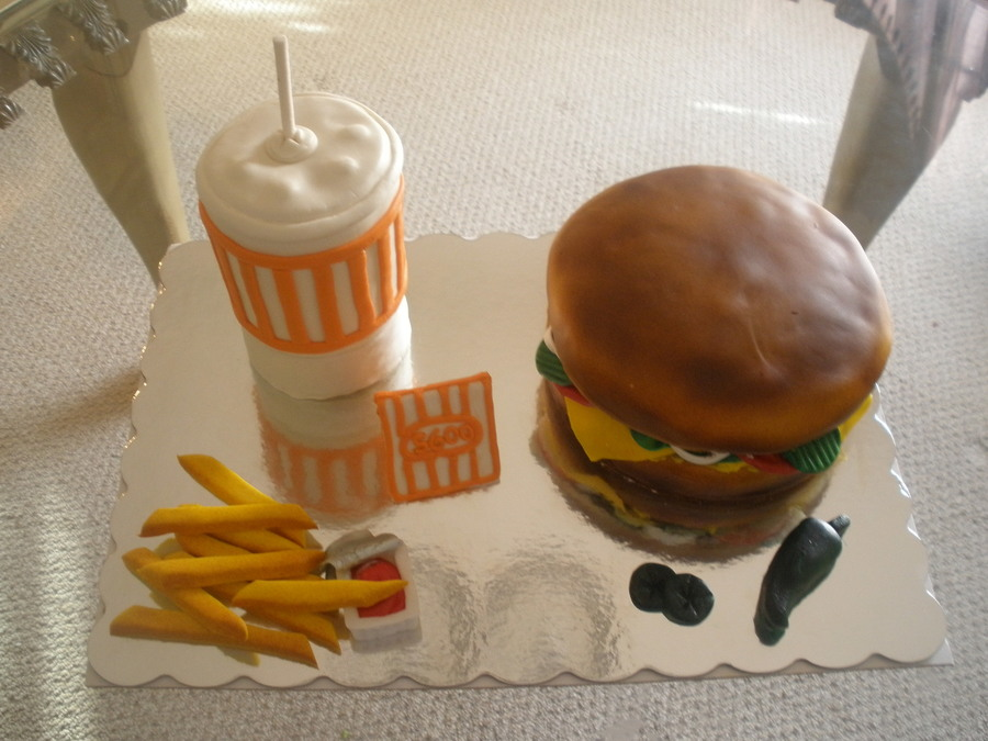 Whataburger Cake This Cake Was For A Grand Opening Of A Whataburger Store on Cake Central