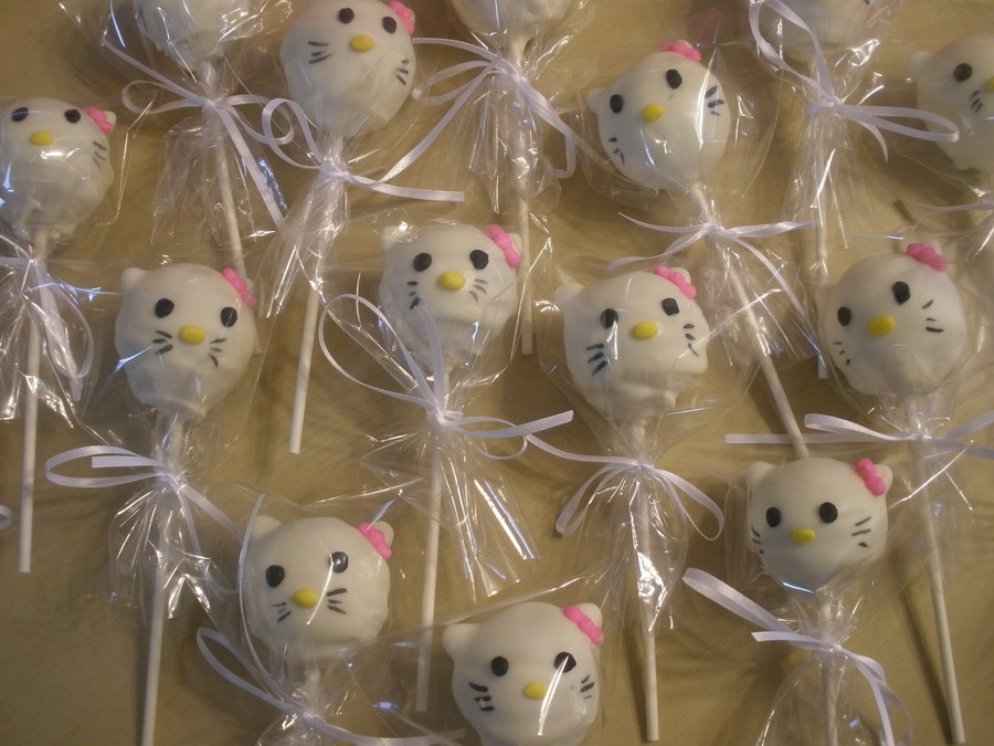 Hello Kitty Cake Pops 1St Time I Make Them on Cake Central