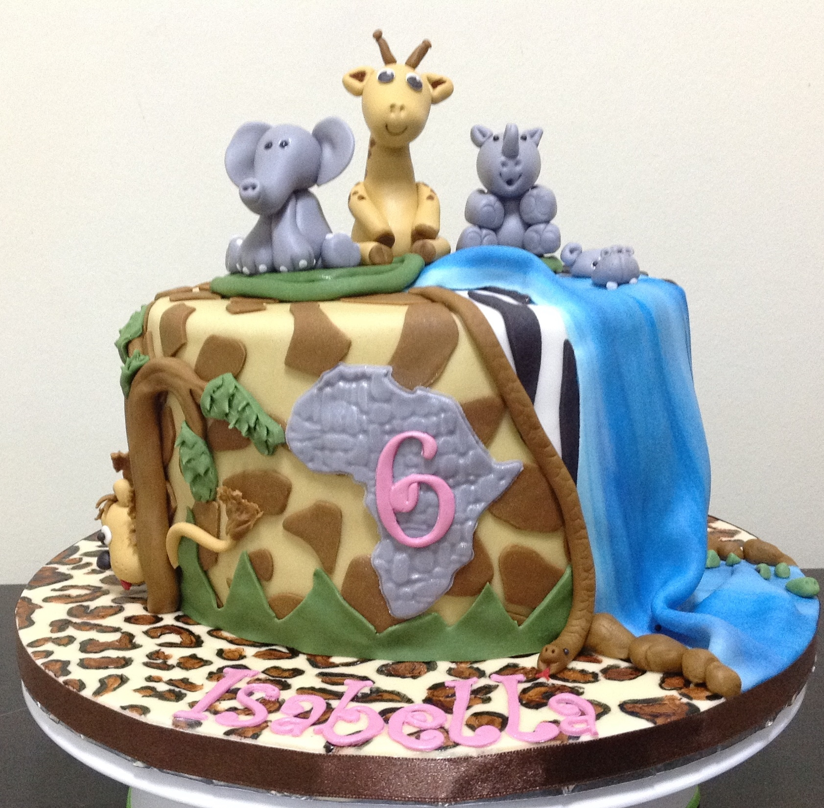 African Theme 6th Birthday Cake Cakecentral Com