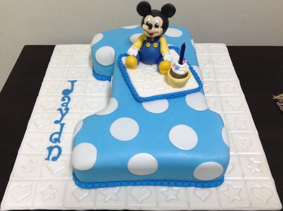 1st Birthday Mickey Mouse Cake Cakecentral