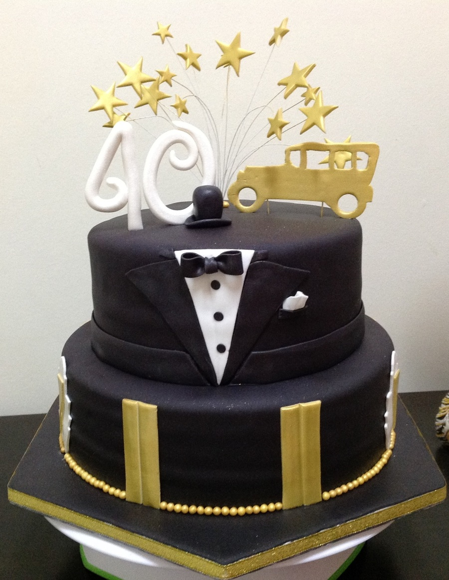 The Great Gatsby Inspired 40th Birthday Cake Cakecentral Com